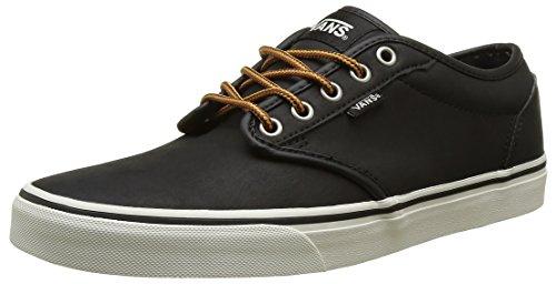 Vans Men's Atwood (Leather) Black/Marshmallow Skate Shoe 10 Men US