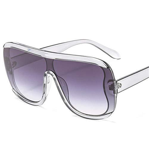 U/N Occhiali da Sole Vintage Oversize Uomo Retro Big Frame Occhiali da Sole Donna Lenti a Specchio Gradient Sunglass-6