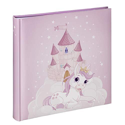 Hama Fotoalbum Joana, Kinder Fotobuch mit 50 Seiten, für 100 Fotos im Format 10x15, Prinzessinen-Design mit rosa Pony-Motiv, 25x25cm,...