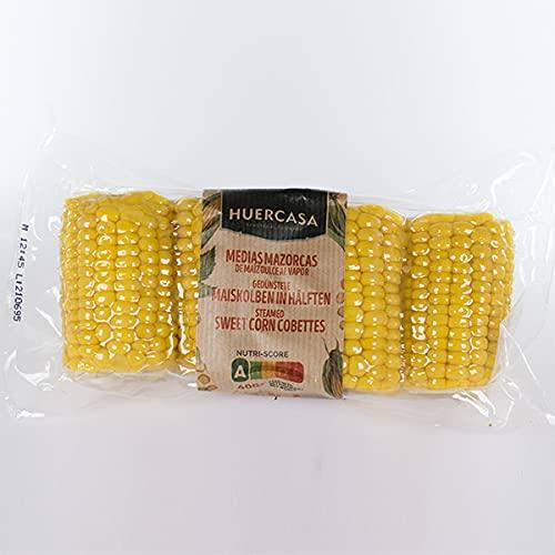 HUERCASA - Mazorcas de Maíz Dulce Cocidas al Vapor. Pack