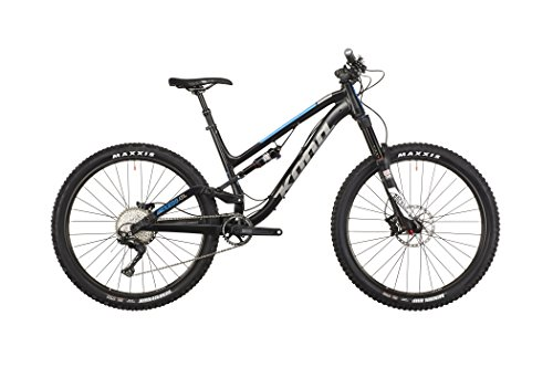 Kona Process Deluxe 134A matt black/gloss silver/blue Rahmengröße 45 cm 2016 MTB Fully