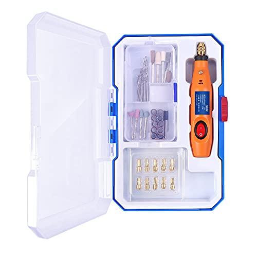 Multiherramienta, Mini Amoladora Eléctrica 12W Amoladora eléctrica kit con complemento velocidad 16.000...