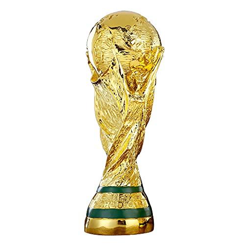 Repliche della Coppa del Mondo 2022, trofei di Calcio, Artigianato in Resina, Giochi, premi, riconoscimenti, Regali di Compleanno, Oro, Diverse Dimensioni tra Cui Scegliere 36cm高