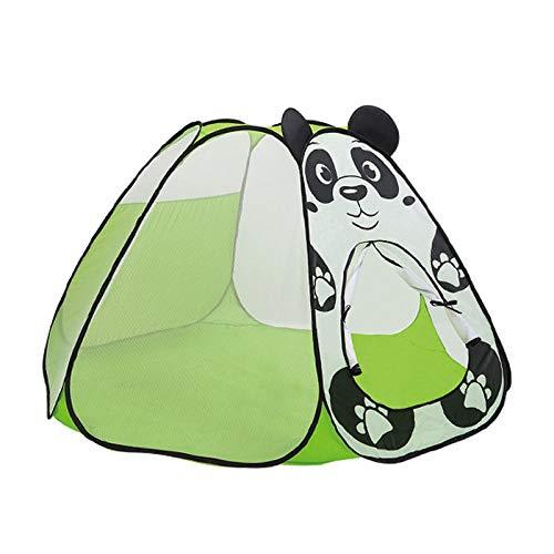 Qaoping Spiel Zelt Kinderzelt Zimmer zu Hause Princess Falten kleines Zelt Mädchen Spielhaus Puppenstuben Ocean Ball Pool-Zelt Hund Für Kinder (Color : Tent Panda)