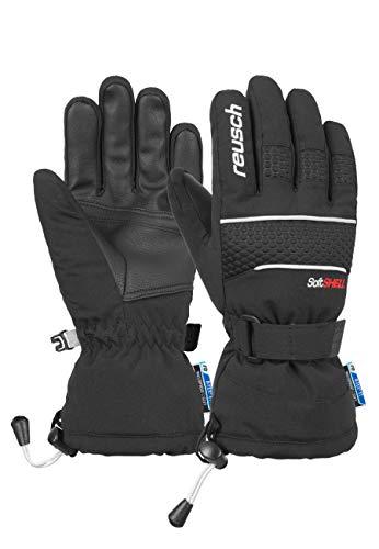 Reusch Unisex Fingerhandschuhe Connor R-TEX® XT Junior in sportlichem Schnitt black/white, 6