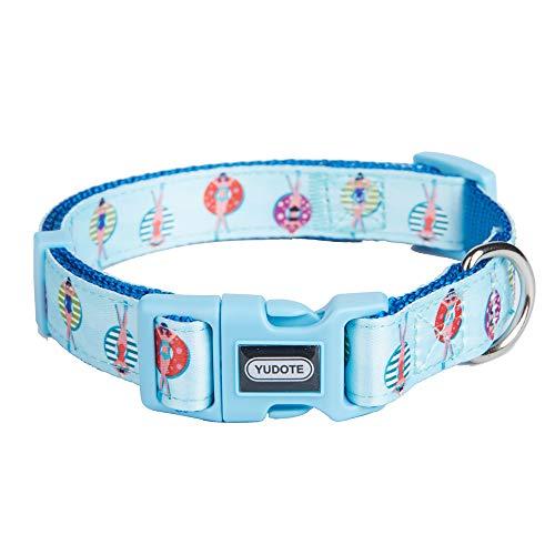 Petiry Hundehalsband, Nylon, frisches Blumenmuster auf hochwertigem Band, verstellbares und langlebiges Halsband für Welpen oder schwere Hunde, L:Neck 16