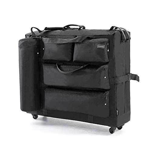 DR.LOMILOMI Massage Table Carry Case Bag with Wheels
