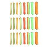 Lurrose Rodillos para El Cabello 80Pcs Multifunción Flexible para El Cabello Palos para Rizar El Cabello Varillas para Damas Mujeres Niñas (Color Mixto)