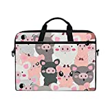 TropicalLife Laptop Bag Cute Pig Lightweight Briefcase Shoulder Messenger Bag Laptop Case Sleeve for 11.6-15 inch MacBook Pro, MacBook Air Laptop and Tablet