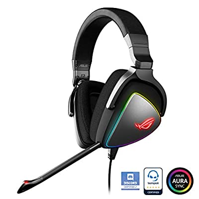 ASUS ROG Delta RGB Gaming Headset with Hi-Res ESS Quad-DAC for PCs, Consoles and Mobile Gaming