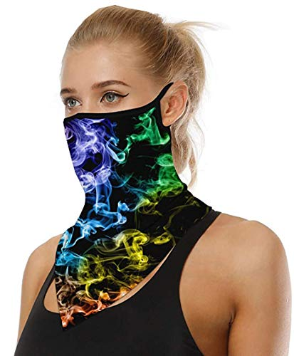 Luburs Face Shield Multifunktionstuch Motorrad Halstücher für Damen Mundschutz Halstuch Bandana Schlauchschal für Damen Herren Unisex 32 Farben