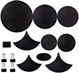 Cymbal Drum Mute Pads 10pcs Drum Mute Pad Mat Drum Head Pad and Sound Off Blocks Belt Mat for Drum Practice Mute Pad Set Drum Silencer Universal 12-22 in 5mm Thickness Rubber Foam Material