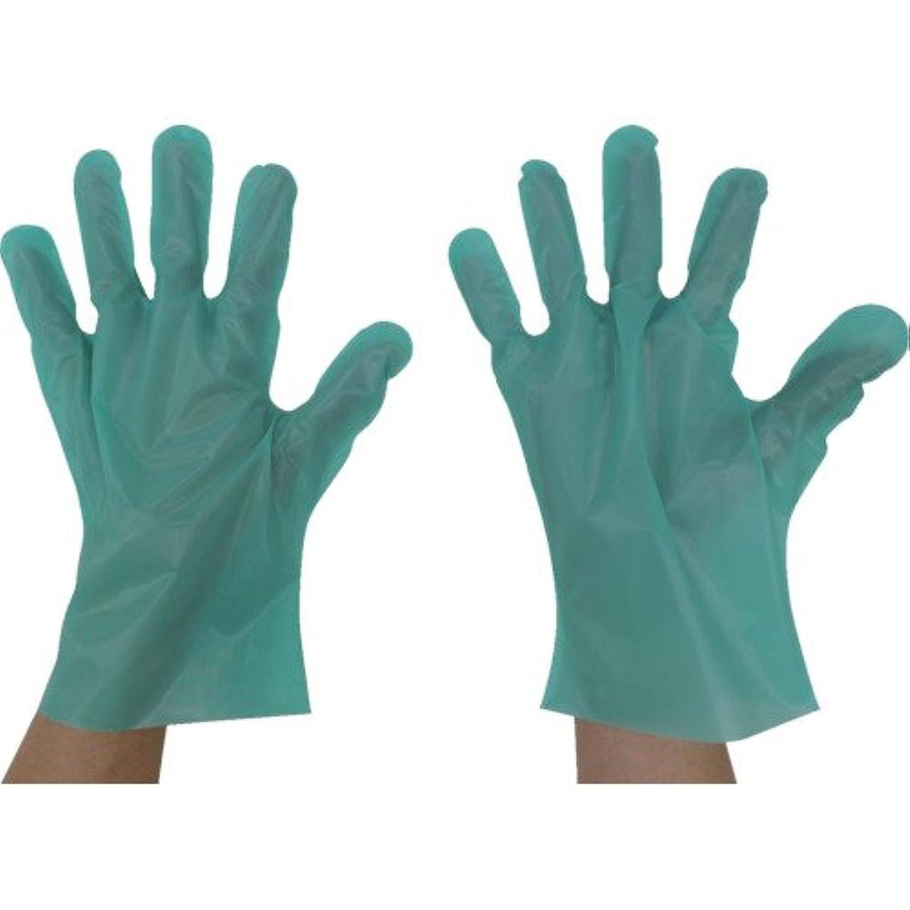 オフェンス教え臭い東京パック エンボス手袋五本絞りエコノミー化粧箱L グリーン(入数:200枚) GEK-L