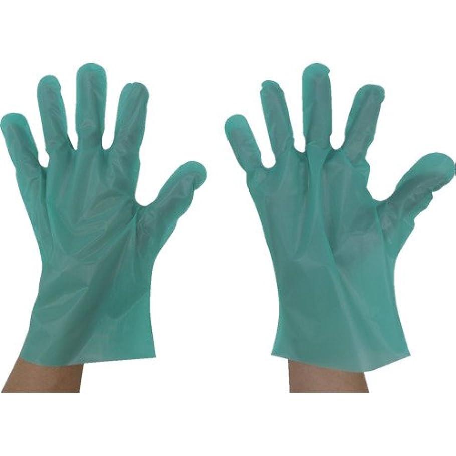 泥手配する包囲東京パック エンボス手袋五本絞りエコノミー化粧箱L グリーン(入数:200枚) GEK-L