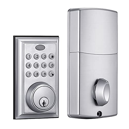 Keyless Entry Deadbolt Lock with Electronic Keypad Only $23.99 (Retail $39.99)