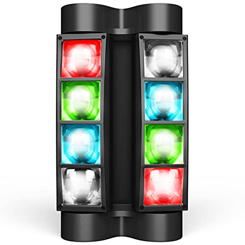 DJ Lights, 8 x 3W LED Stage Lights RGBW, Sound Activated/DMX Lighting, Moving Head Lights for Church, Event, Concert, Party, Club Lighting