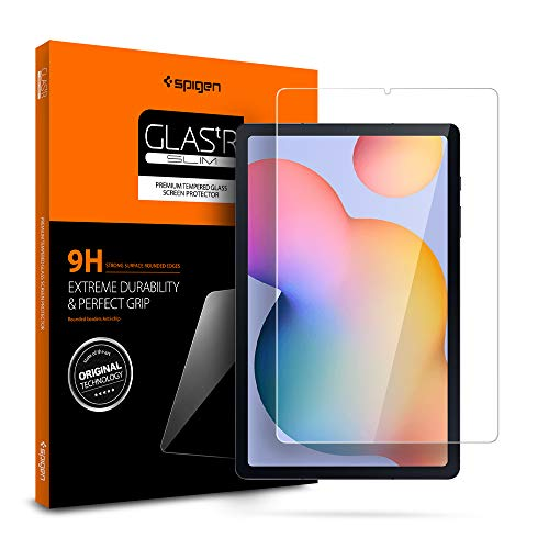 Spigen Tempered Glass Screen Protector Designed for Galaxy Tab S6 Lite (10.4 inch / 2020) [9H Hardness/Case-Friendly]