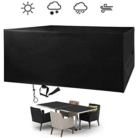 FlyLemon Housse Salon de Jardin, Protecteurs Anti-UV Imperméables De Patio De Tissu De 420D Oxford avec Dix Tailles (242 * 162 * 100 cm)