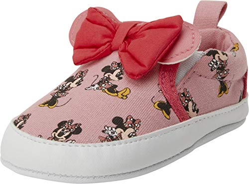 Disney Baby Girl's Shoes - Minnie Mouse Laceless Slip-On Casual Sneakers (Infant), Minnie Mouse Pink, Size 2