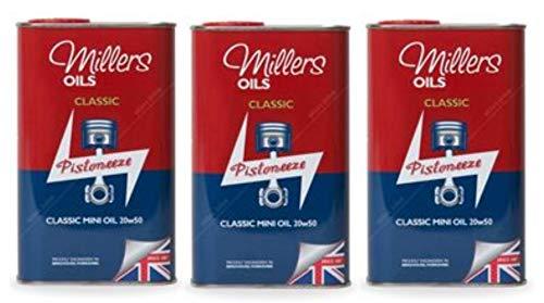 Millers Classic Mini Oil 20w50 Minerale Motorolie voor motor/versnellingsbak eenheden, 3L