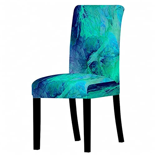 Whinop Bunte Marmorstuhl Sitzbezug Home Table Dinner Chair Back Covers Tischgruppe Neujahr Party Dekoration Anti-Dirty Cover (Color : CH19-4)