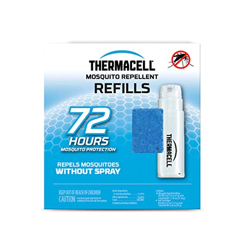 Thermacell Mosquito Repellent Refills 72-Hour Pack Contains 18 Repellent Mats 6 Fuel Cartridges Compatible with Any Fuel-Powered Thermacell Product No Spray or Scent