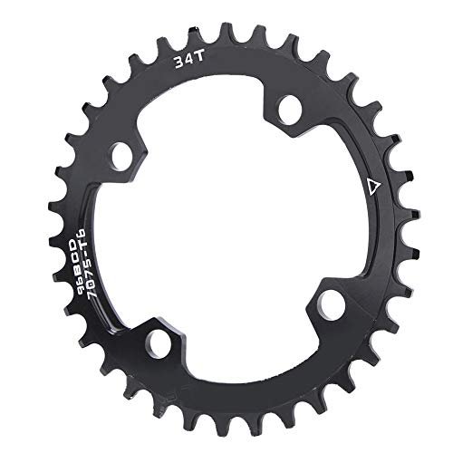 T best Plato de Bicicleta, Anillo de Cadena de reparación de Plato Redondo Ancho Estrecho de Bicicleta 96BCD para Bicicleta de montaña(34T)