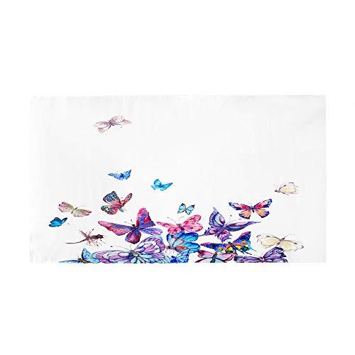 Surwin Toalla de Playa Grande, Microfibra Mariposa Impresión Secado Rápido Toalla de Piscina Toalla de Arena Antiadherente para Verano Playa, Yoga, Picnic, Hotel (Mariposa,70x150cm)