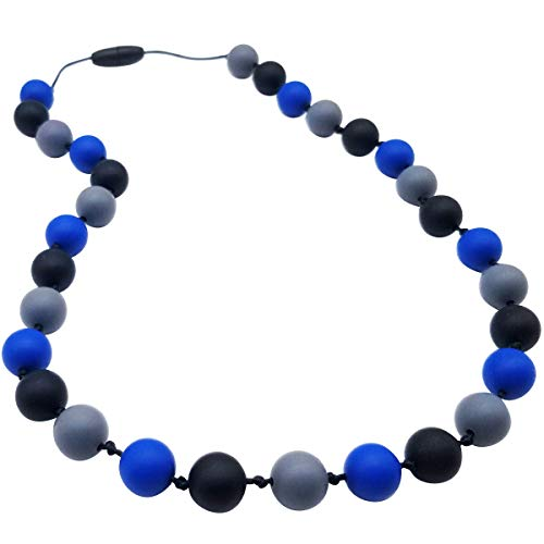 Sensory Chew Necklace for Kids, Boys - Chewing Necklace Teething Necklace Teether Necklace Chew Toys - Teething Toys Designed for Chewing - Autism Sensory Teether Toy
