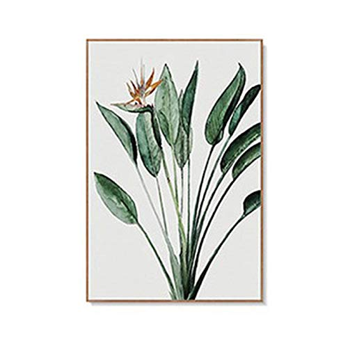 Plantas verdes Hojas verdes Sala de estar Pinturas murales Sofá Fondo Pared Pintura decorativa Pintura Núcleo 30x40cm1