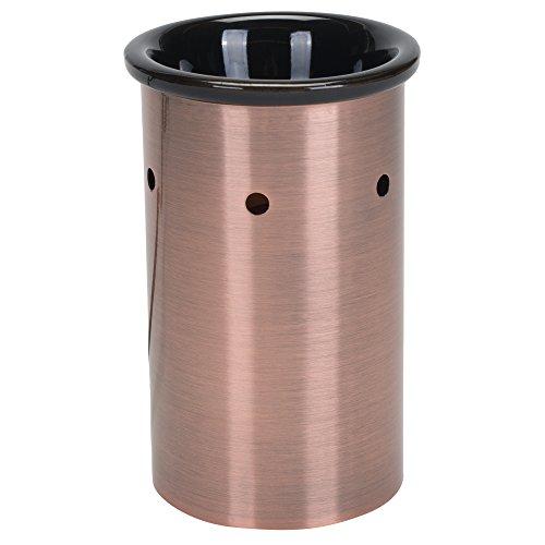 Elanze Designs en métal brossé électrique Tartelette en Cire et Huile Chaud Contemporain 3.5x5.75 inch Brushed Copper