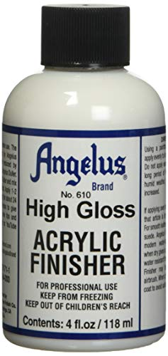 Angelus merk acryl afwerking, hoogglans nr. 610, 4 Ounce Fles (610-04-000)