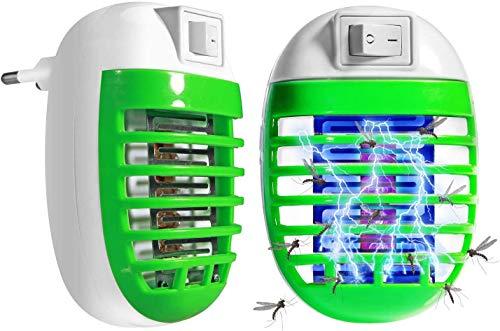 FishOaky Elektronische Mückenstecker, Mückenkiller, UV Fliegenfalle Elektrisch Insektenvernichter, LED Mückenfalle Mückenlampe Bug Zapper Mosquito Lampe, Insektenlampe Insektenfalle