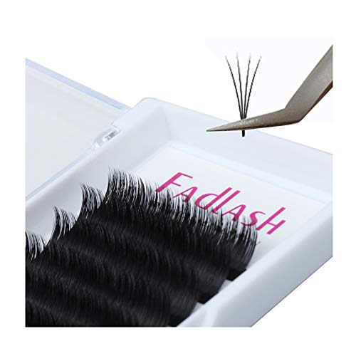 Volume Lash Extensions FADLASH Easy Fan 0.07mm 3D~10D Self Fanning Eyelash Extensions C/D Curl Easy Fanning Volume Lashes (0.07-C, 17mm) (Best Way To Remove Fake Eyelashes)