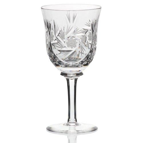 Cristal au plomb en verre à vin CRISTALICA pour la collection de vin rosé Lina Transparent 15,3 cm, cristal au plomb taillé à la main