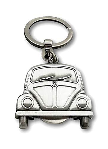 BRISA VW Collection Volkswagen Kever Sleutelhanger met verwijderbare munt in geschenkdoos - Vintage Zilver
