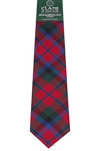 I Luv LTD MacNaughton Clan 100% Wool Scottish Tartan Tie