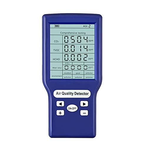 TTLIFE Luftqualitätsmonitor Genauer Tester für CO2-Formaldehyd (HCHO) TVOC ppm-Messgeräte Mini-Kohlendioxid-Detektor Gasanalysator Protable Air Quality Tester