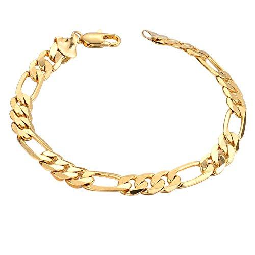 Gowind6 Vrouwen Mannen Pantserketting Link Goud vergulde armband