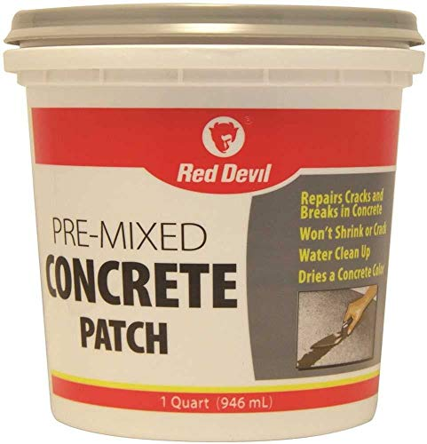 Red Devil 0644 Pre-Mixed Concrete Patch, 1 Quart, Pack of 1, Gray