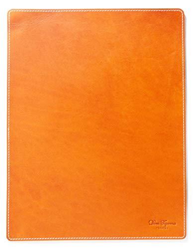[Dom Teporna Italy] マウスパッド 大型 30cm 本革 イタリアンレザー 職人仕上げ 光学式&レーザー&ブルーLEDマウス a4 大判 オフィス デスク 全対応 ブラウン