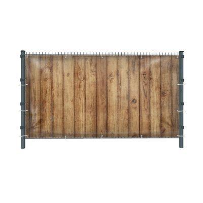 (Mesh) Holzwand Z1 Zaunbanner, Sichtschutz, Windschutz, Zaunblende, Garten, 250 x 182 cm, DRUCKUNDSO