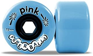 Pink Powerballs 72mm 81a Blue Skateboard Wheels (Set Of 4) by ABEC 11