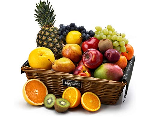 Traditional Fresh Fruit Hamper - Extra Large - Hand Wrapped Gourmet Food Basket, in Gift Hamper Box