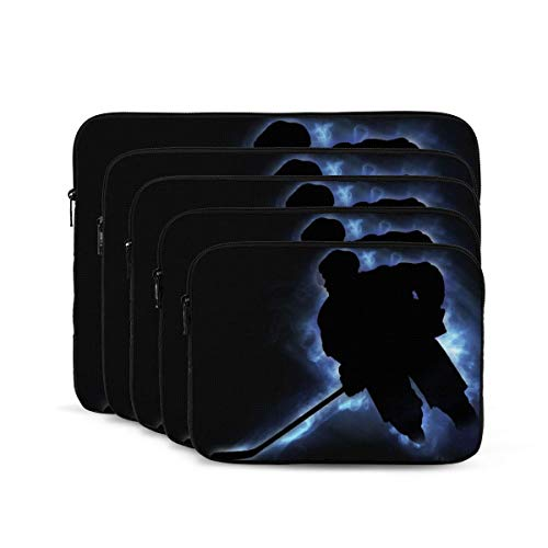 Ice Hockey Print Laptop Sleeve 17 inch, Shock Resistant Notebook Briefcase, Computer Protective Bag, Tablet Carrying Case for MacBook Pro/MacBook Air/Asus/Dell/Lenovo/Hp/Samsung/Sony