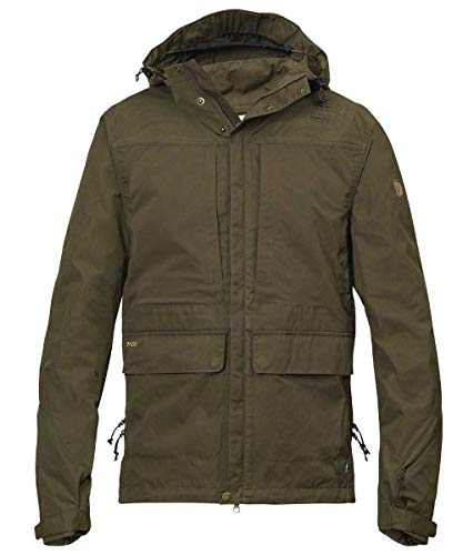 Fjällräven Herren Lappland Hybrid Jacket Softshelljacken, Grün (Dark Olive), L