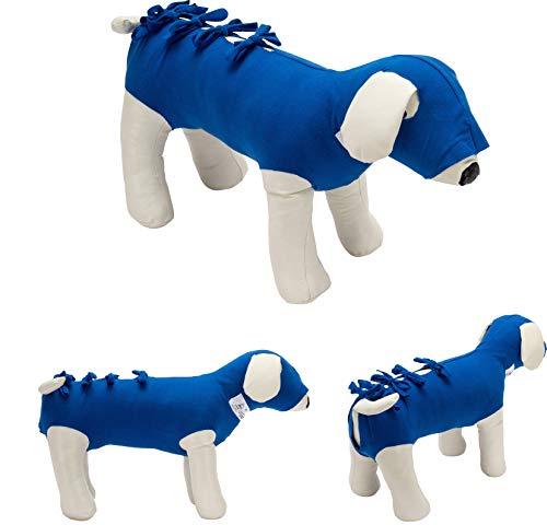 Bendana Postoperativer Anzug für Hunde und Katzen, schützt Wunden und Verbände und lässt dem Tier Seine Bewegungsfreiheit. Modell 041 - Vorgefertigter Anzug für Kopf, Hals und Bauch (XXL)