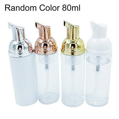Ukallaite - Botellas de almacenamiento recargables (4 unidades, 30/50/80/100 ml), PET + polipropileno., Color aleatorio, 80 ml