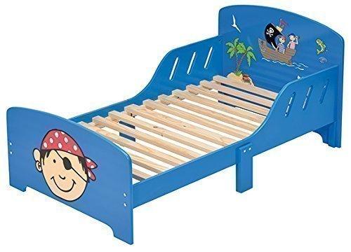 4Uniq Kinderbett Pirat blau lackiert Bettgestell Spielbett Holzbett Bett