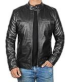 Decrum Mens Black Leather Jacket Men - Mens...